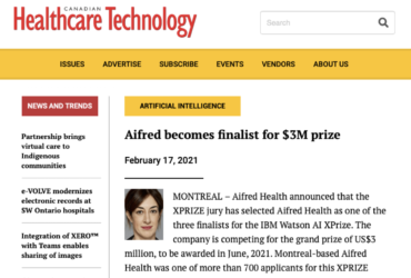 D3 startup Aifred Health Canadian Healthcare Technology